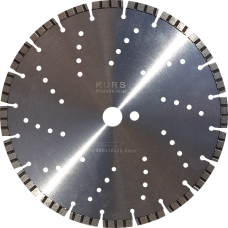 """Алмазный диск по армированному бетону d300 """"турбо-лазер"""" KURS"""