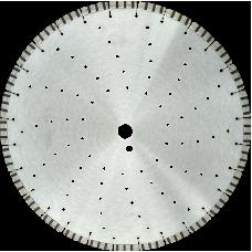 """Алмазный диск по армированному бетону d500 """"турбо-лазер"""" KURS"""