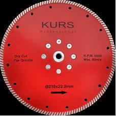 Алмазный диск Турбо красный d230