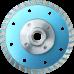 Алмазный диск турбо blue по граниту d105
