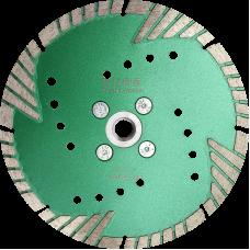 Алмазный отрезной диск  с защитным зубом d180