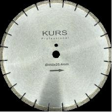 Алмазный отрезной диск по бетону Silver Brazed d450