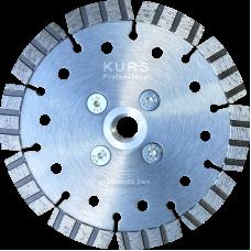 """Алмазный диск по армированному бетону d115 """"турбо-лазер"""" KURS"""
