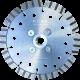 """Алмазный диск по армированному бетону d125 """"турбо-лазер"""" KURS"""