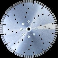 """Алмазный диск по армированному бетону d230 """"турбо-лазер"""" KURS"""